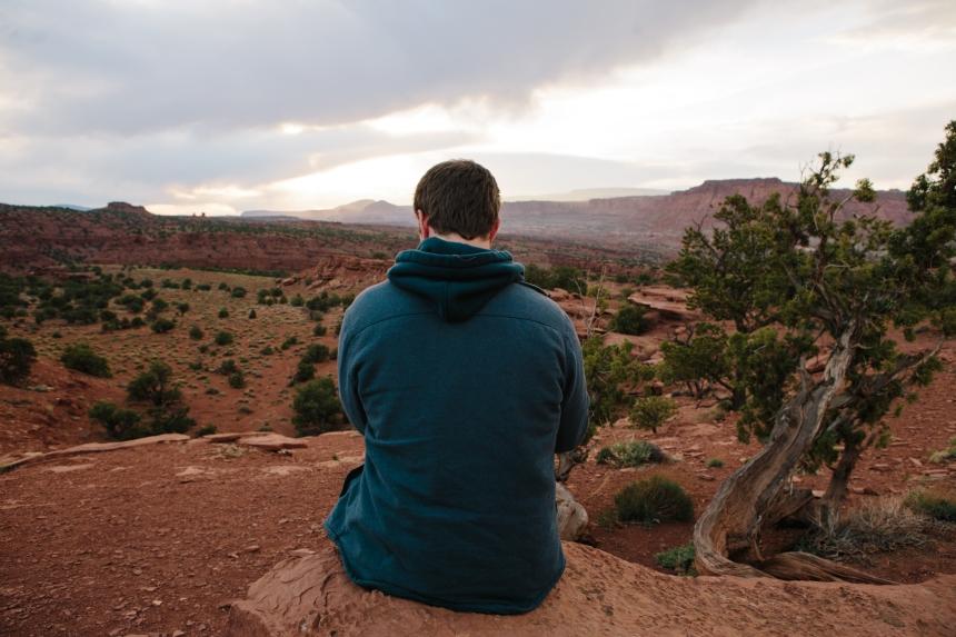 guy in desert